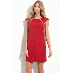 MAGGY LONDON Red Zip Trim & Pockets Dress Size 12